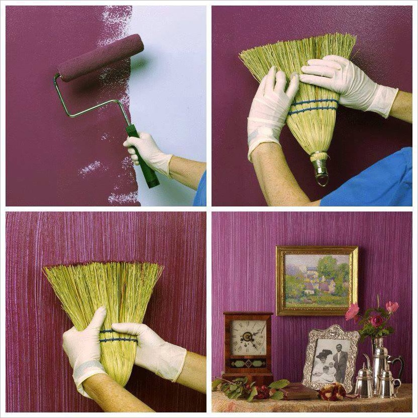 Painting Basics Interior: Make A Textured Painted Wall With A Broom