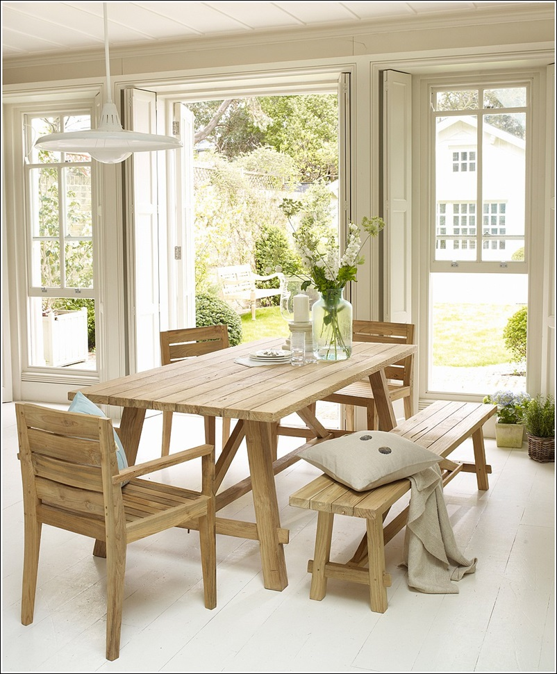 How About Adding A Bench To Your Dining Table