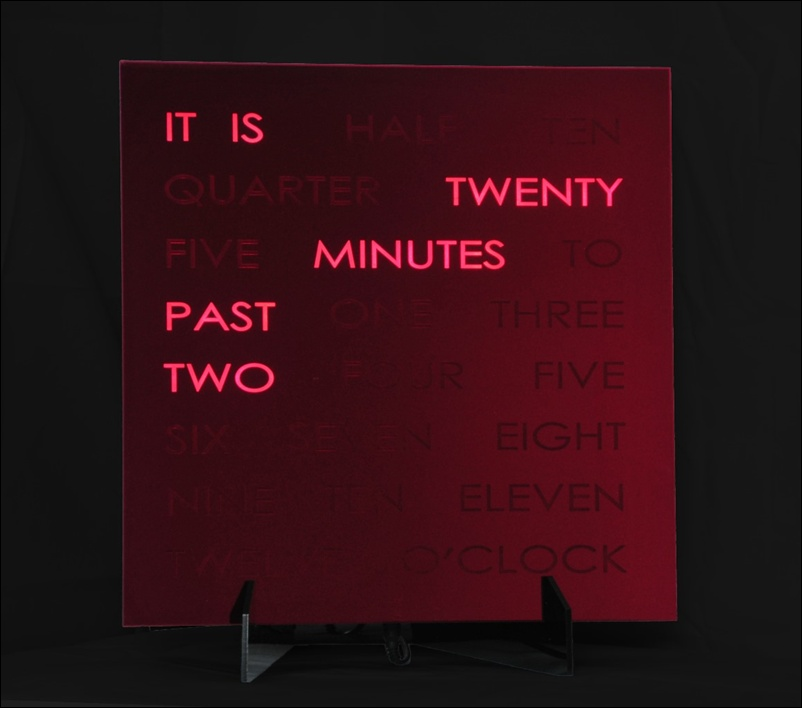 Creative Clock With Lighted Up Words