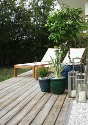 Wooden patio via Errez Design