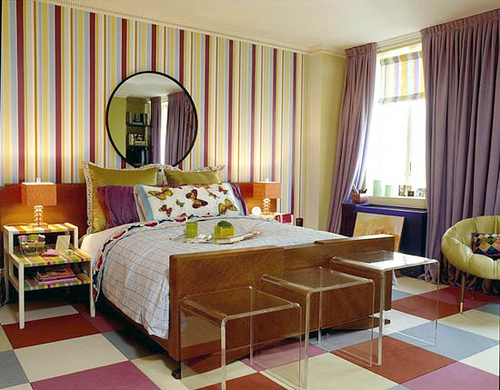 DELIGHTFUL & FUN DESIGNS WITH STRIPE WALLS