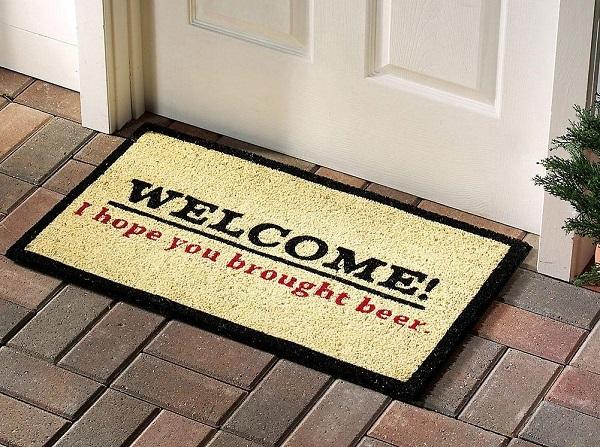 greet your visitors with funny door mats. Black Bedroom Furniture Sets. Home Design Ideas