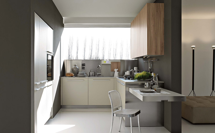 Eating bar kitchen design via Elmar
