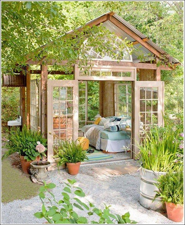 transform your garden shed or greenhouse into a relaxing retreat - Garden Sheds With Greenhouse