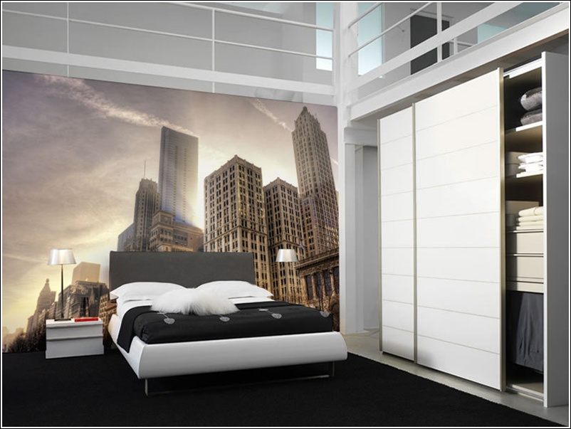 add life to your walls with city wall murals. Black Bedroom Furniture Sets. Home Design Ideas