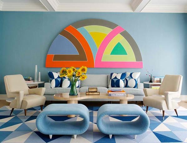 Colorful Half Circle Artwork
