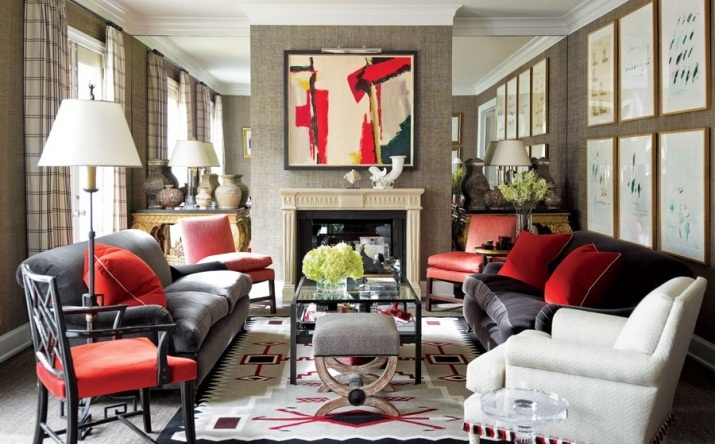 Contemporary Abstract Artwork above the fireplace