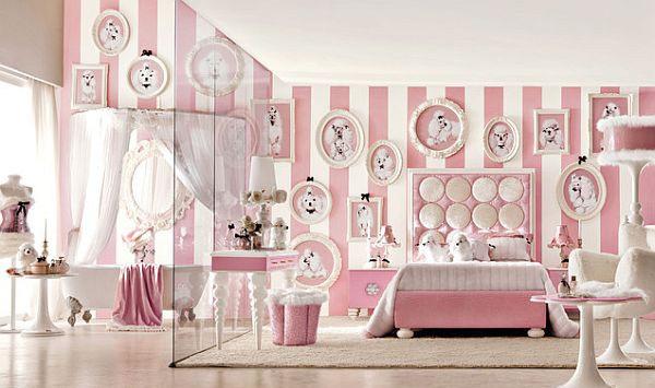 Georgeus Pink Striped Walls