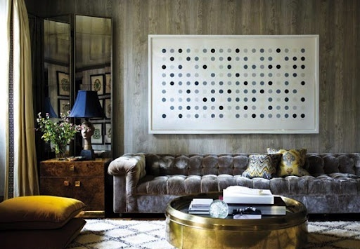 Exquisite artwork for creating a chic living room for Polka dot living room ideas