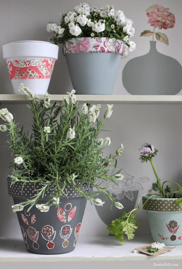 Handmade flower pots make the best gifts for Handmade pots design