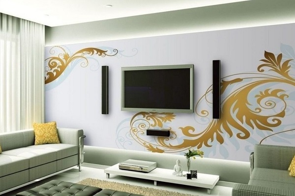 What is your tv wall ideas for Wall mounted tv designs living room