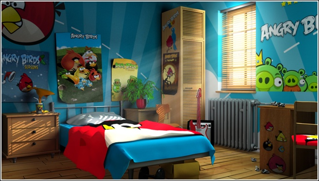10 Angry Birds Room Ideal For Boys