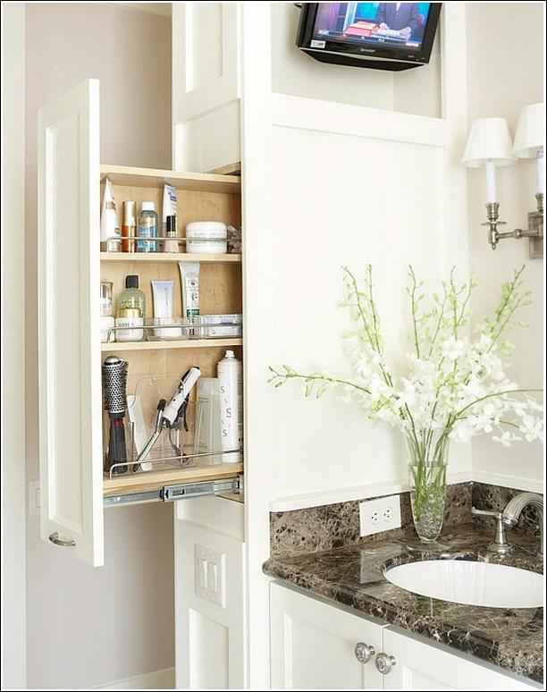 Cool Attach Storage Bins To The Back Of Bathroom Vanity Cabinet Door
