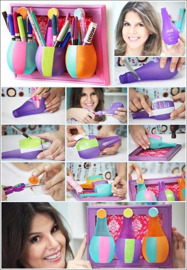 Diy Plastic Bottle Pen Holder