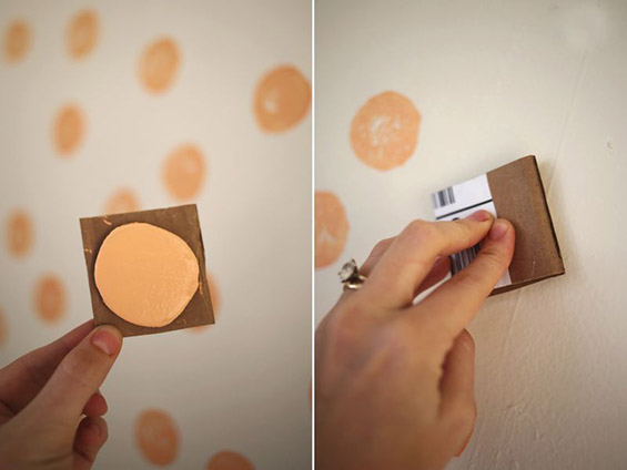 3. Apply the patterns on the wall