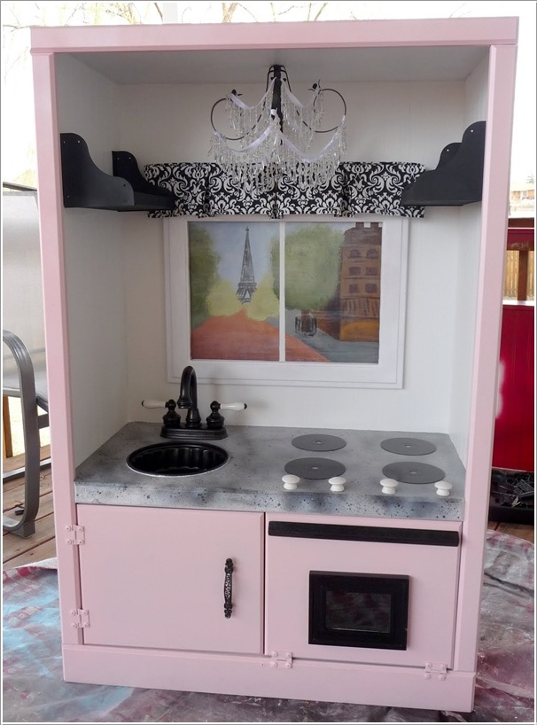 tv cabinet made into play kitchen transform an tv cabinet into a play kitchen for your 27343