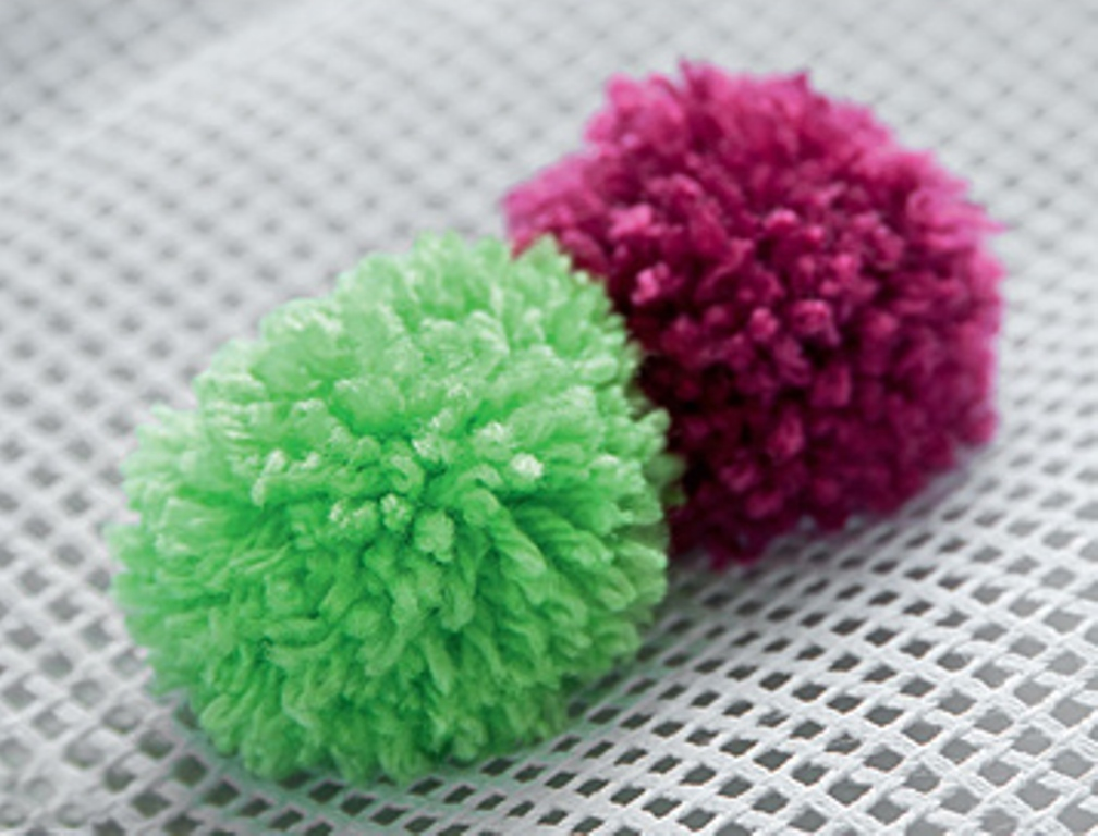 4.Attach the other pompoms