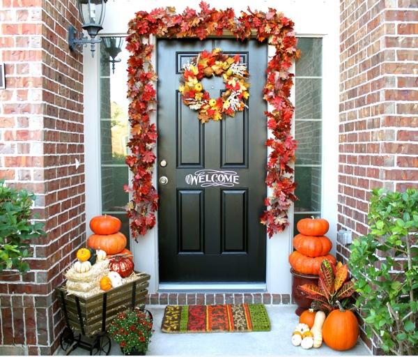 4.Front door- fall decoration