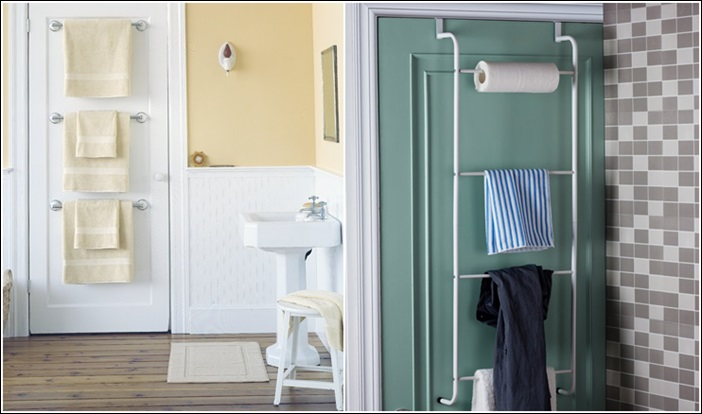 15 clever life hacks for bathroom storage and organization for Salle de bain towels