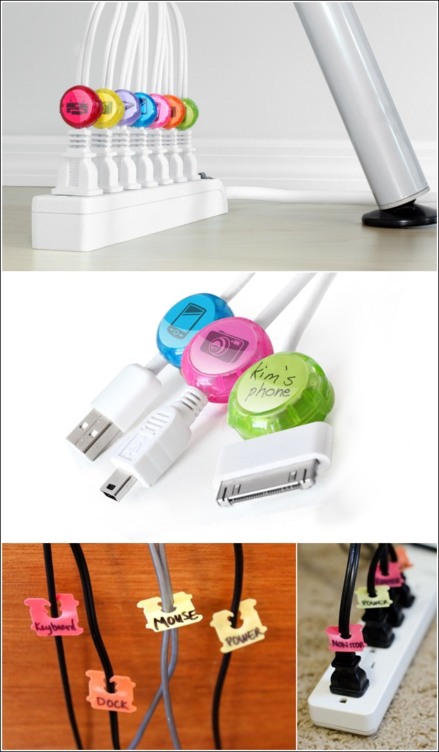 Creations 15 cord management Charger cord organizer diy