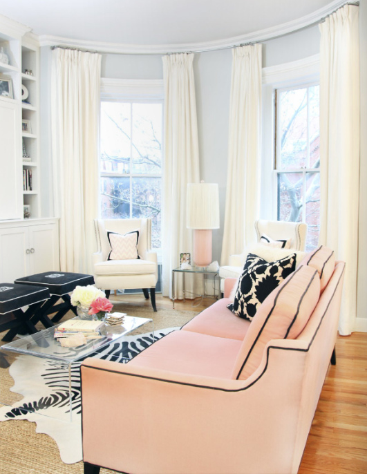 Pink Delight Beautify Your Living Room By Adding A Sofa