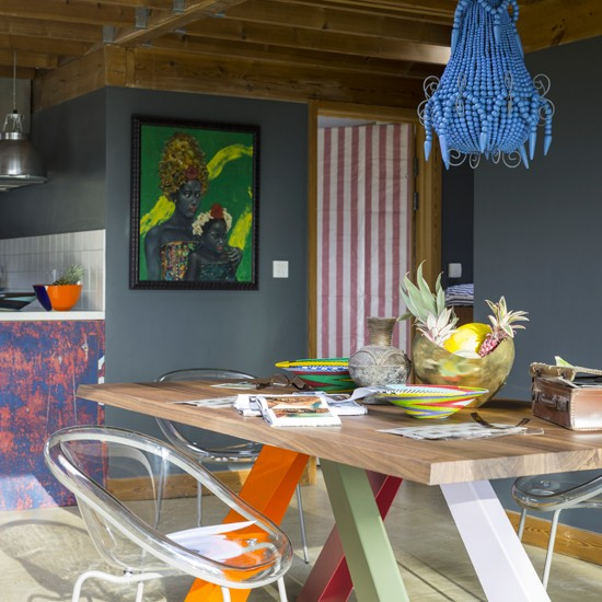 5.Cool Eclectic Dining Room