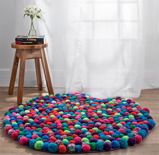 5.Enjoy in your new awesome pompom rug