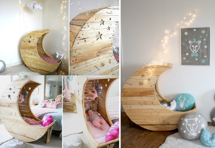 Daily Dose Of Inspiration Adorable Moon Shaped Cradle