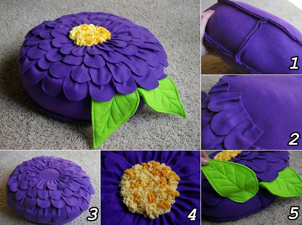 DIY Fleece Flower Petal Pillow