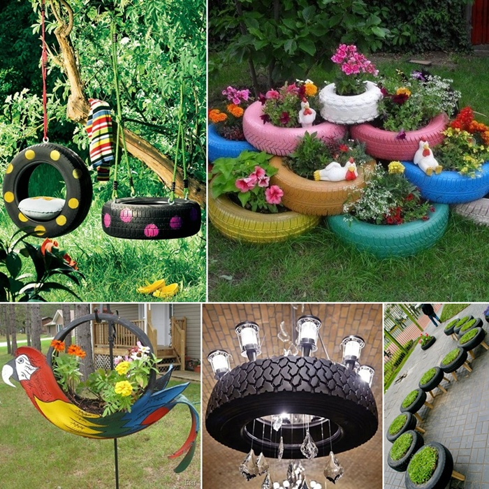 15 wonderful ideas to upcycle and reuse old tires - Garden Ideas Using Tyres