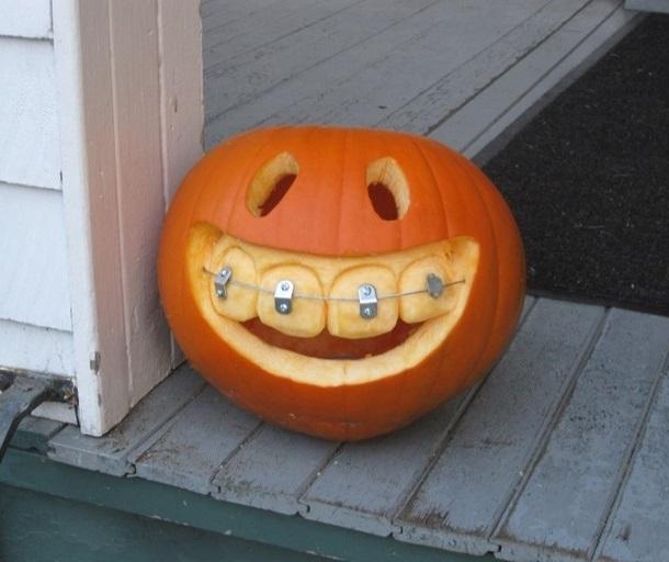 Diy halloween pumpkin with braces