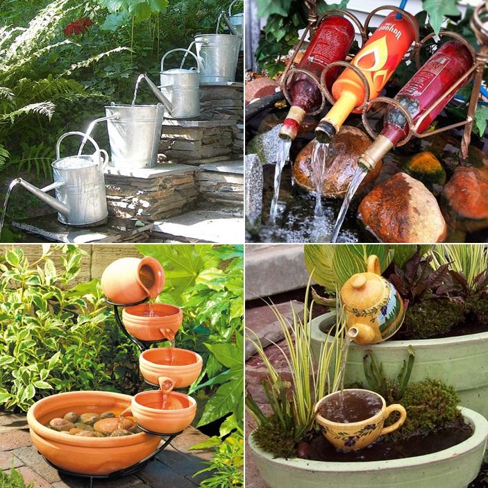 10 waterfall fountain ideas to adorn your garden for Cascada de agua para jardin