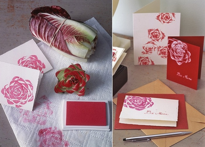 How About Using Vegetables to Stamp Greeting Cards?