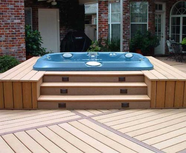 Finding the perfect hot tub decking ideas for your home for Hot tub deck plans