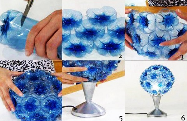 using some plastic bottle decoration ideas
