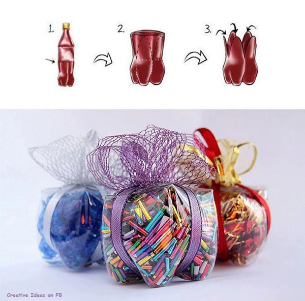 Using some plastic bottle decoration ideas for Plastic bottle decoration images
