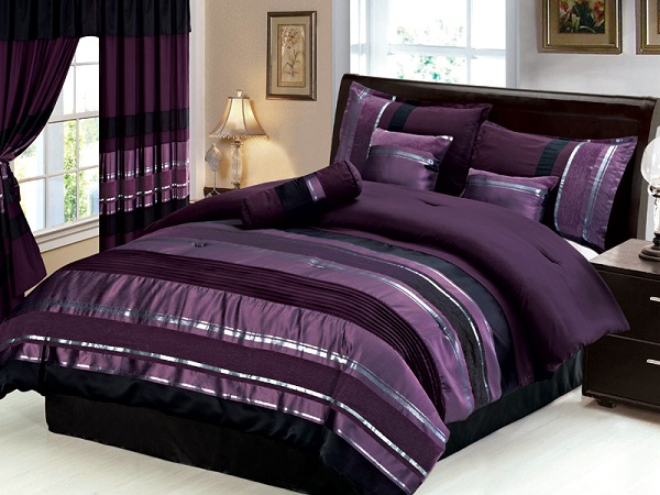 purple and black bedroom purple royal bedroom ideas that you can add to your home 16809