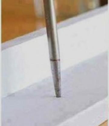 1.Drill a hole on the shelf