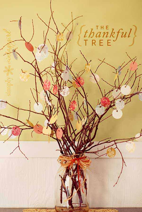 1.The Thankgiving treee