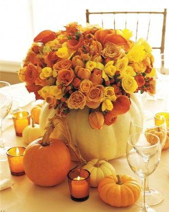 10.Thanksgiving turkey centerpiece