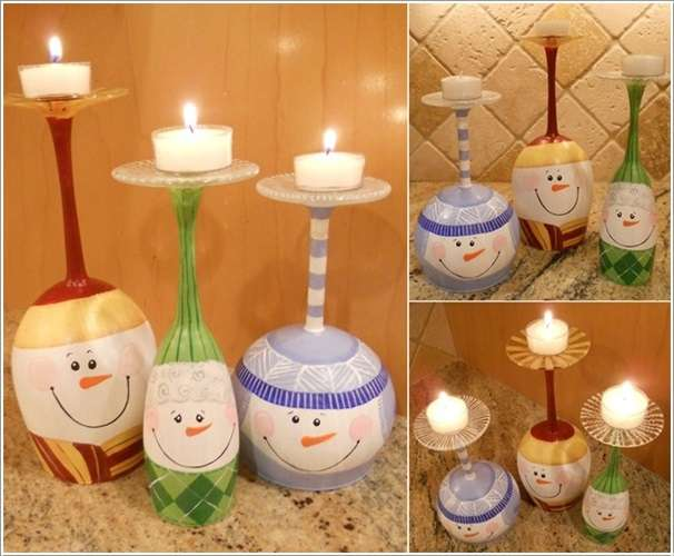 10 awesome craft and decoration ideas using wine glasses for Glace decoration