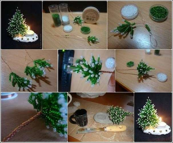 Who will craft this mini beaded christmas tree for Miniature christmas trees for crafts