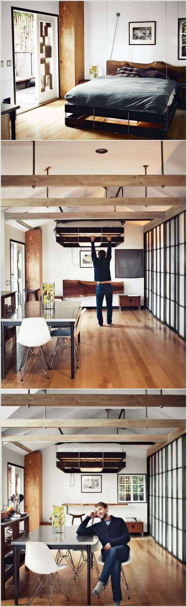 Retractable Bed That Lets You Use the Space It Occupies During the Day   10 Ingenious Ideas for Small Space Interiors 212
