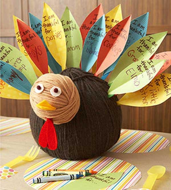 4.Thanksgiving Wool Turkey
