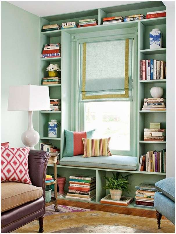 Claim the Space around Your Living Room or Bedroom Window  10 Ingenious Ideas for Small Space Interiors 411
