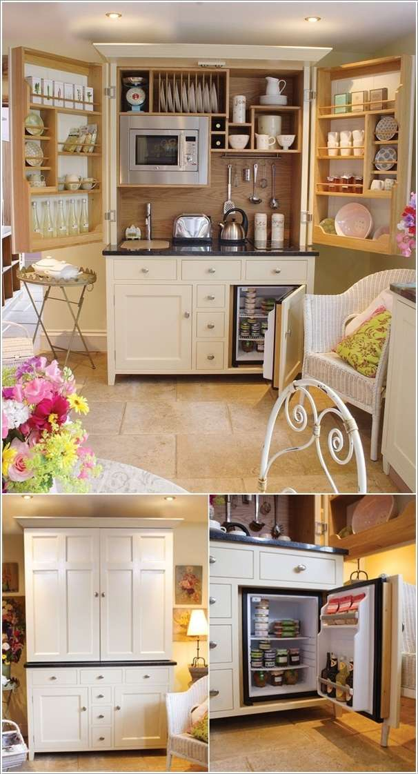 Free Standing Fold Out Kitchen Equipped with Everything You Need in a Kitchen  10 Ingenious Ideas for Small Space Interiors 79