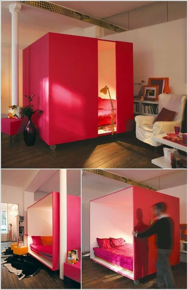 A Moveable Cubicle That Serves as a Bedroom  10 Ingenious Ideas for Small Space Interiors 88
