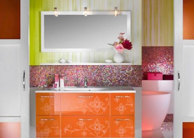 Orange-Girly-Bathroom-Furniture-Design