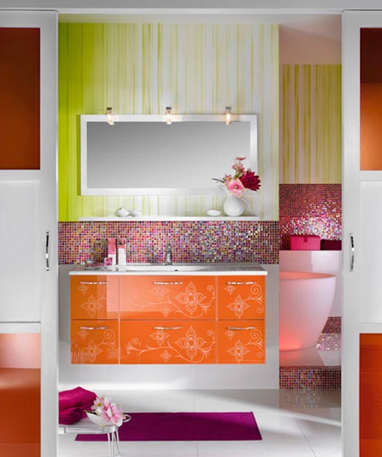 Orange-Girly-Bathroom-Furniture-Design