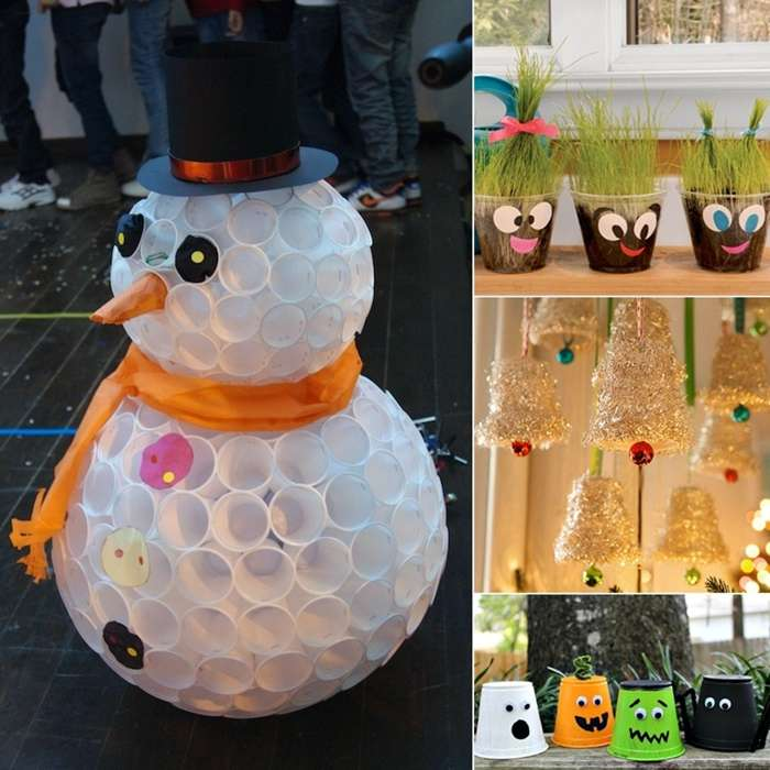 Christmas Tree Made Of Plastic Cups: 10 Amazing And Creative Plastic Cup Crafts